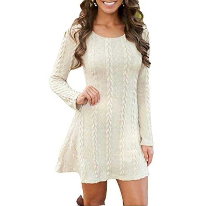 70% Off Long Knitwear Dress