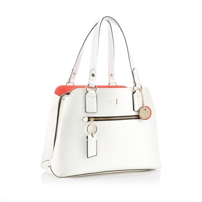 J by Jasper Conran - White Grained 'Richmond' Work Bag