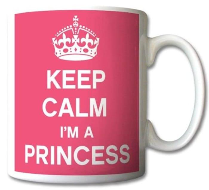 Keep Calm I'm a Princess Mug Cup Gift Retro