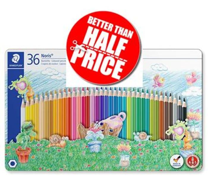 36 Staedtler Noris Colouring Pencils in Tin