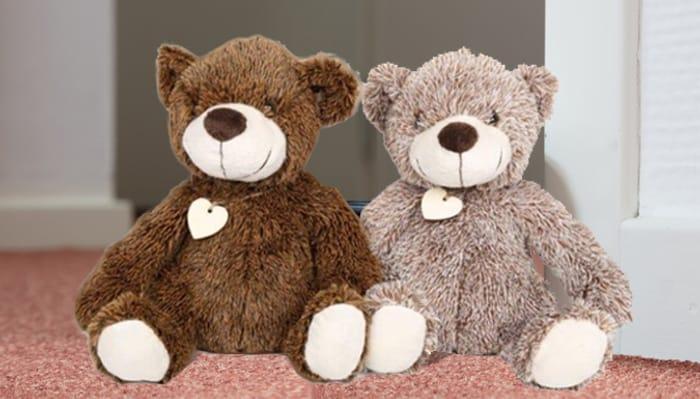 Teddy Bear Deal - Heavy-Duty Door Stops in 2 Colours Only £8.99