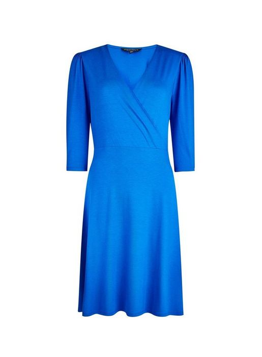 Cobalt Puff Sleeve Wrap Dress at Dorothy Perkins Only £22.1