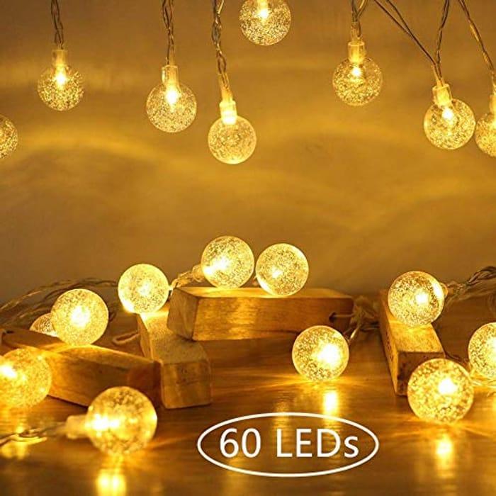 Globe Fairy String Lights 10M 60 LEDs Ollny Indoor Bedroom