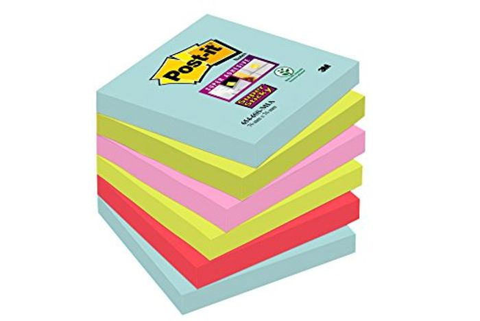 Best Ever Price! Post-It Notes 76 X 76 Mm Super Sticky Notes 6 Pads