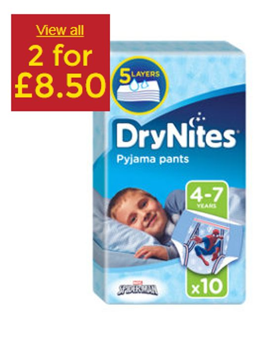 Huggies DryNites Pyjama Pants Boy 4-7 Years - 2 for £8.5