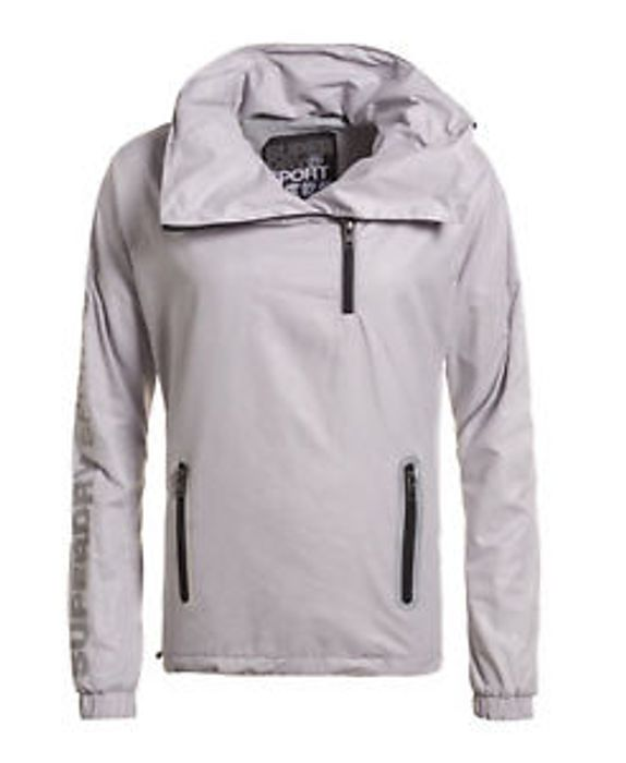 Best Price Womens Superdry Gym Funnel Neck Shell Hooded Jacket Ice Python