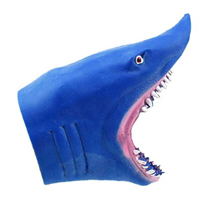 Shark Hand Puppet Awesome Realistic Jaws Rubber Glove Puppet - Story Time