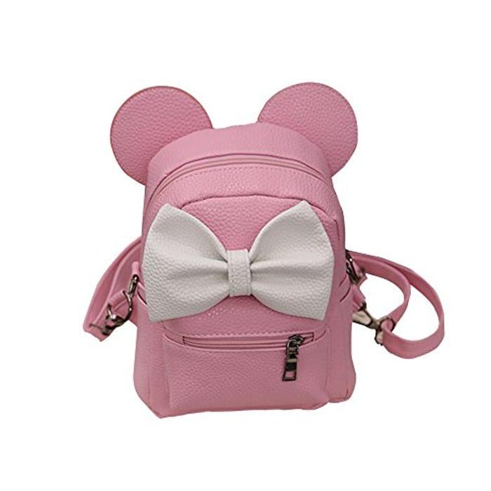 DEELIN Women's Girls Backpack Mini Bags New Mickey Bow Pocket