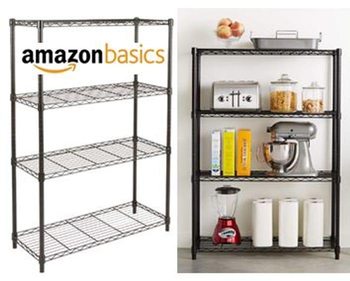 AmazonBasics 4-Shelf Shelving Unit **4.5 STARS**