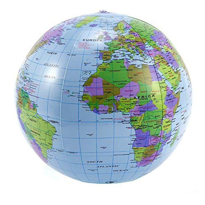16 Inch Inflatable Earth Globe - Teaching, Beach