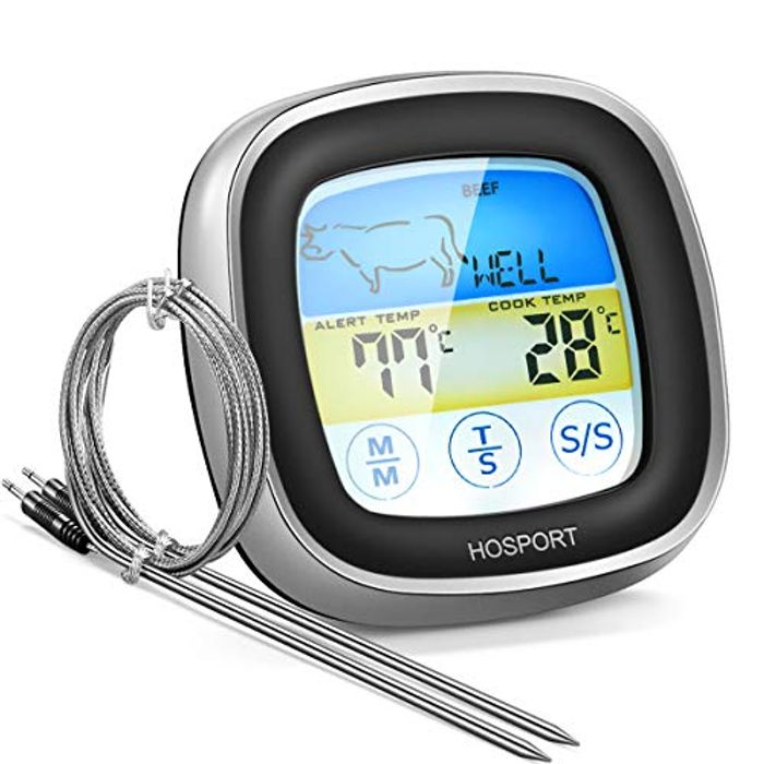 Meat Thermometer Touch Screen with Timer