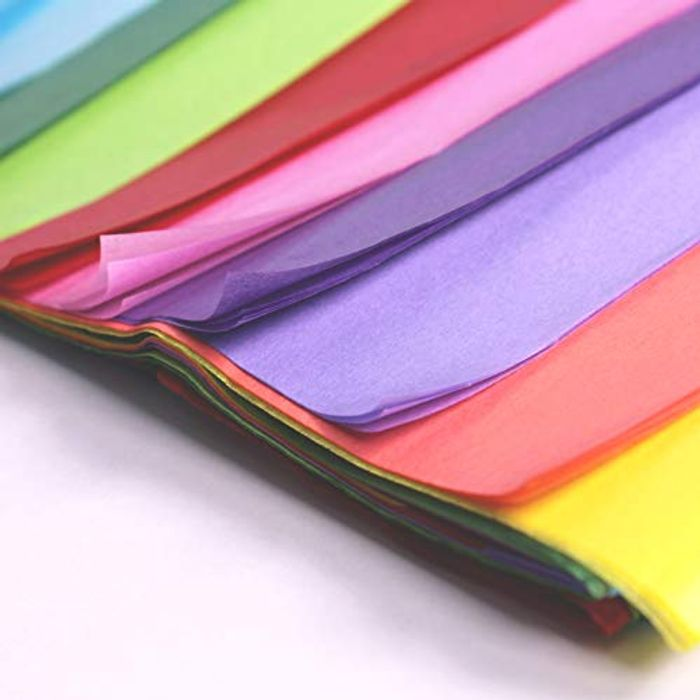 20 Large Sheets of Multicoloured Tissue Paper - FREE Delivery by Friday