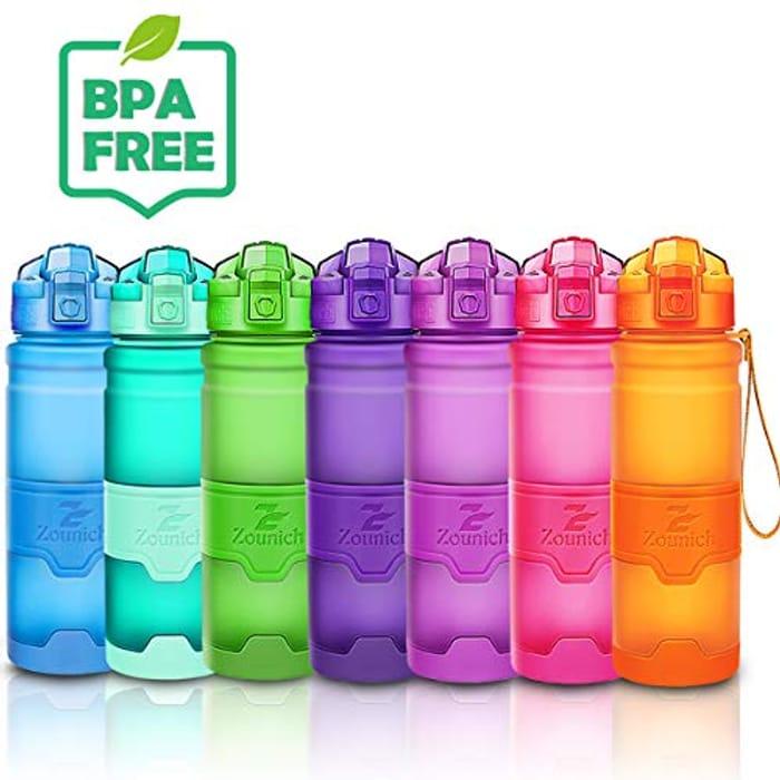 Lightning Deal Best Sports Water Bottle Leak Proof 1L/700ml/500ml/400ml