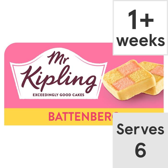 Mr Kipling Battenberg Cake Each