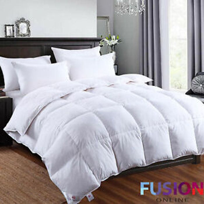 Cheap Goose Feather & Down Bedding - 2 Pillows Only £11.99