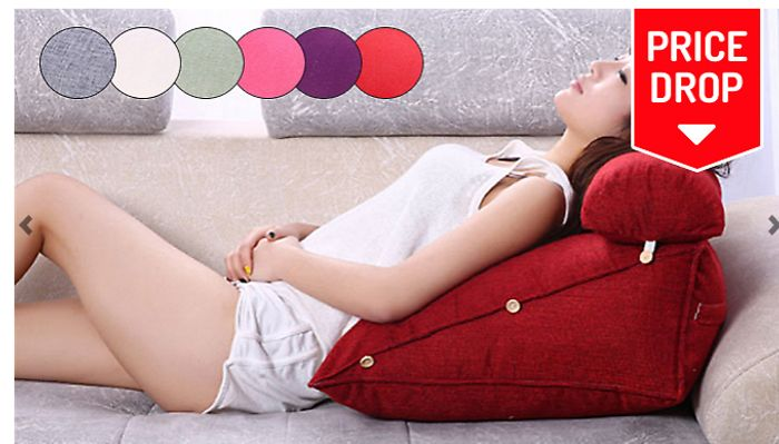 Adjustable Back Support Cushion - 6 Colours for £17.99