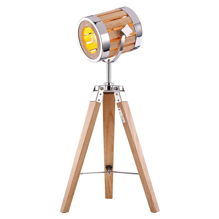 Industrial Designed Tripod Searchlight Style Floor Lamp with Adjustable Head