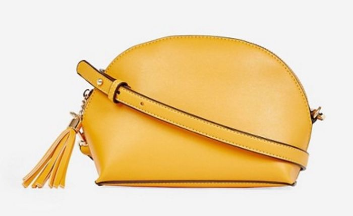 Dorothy Perkins - Yellow Half Moon Tassel Cross Body Bag