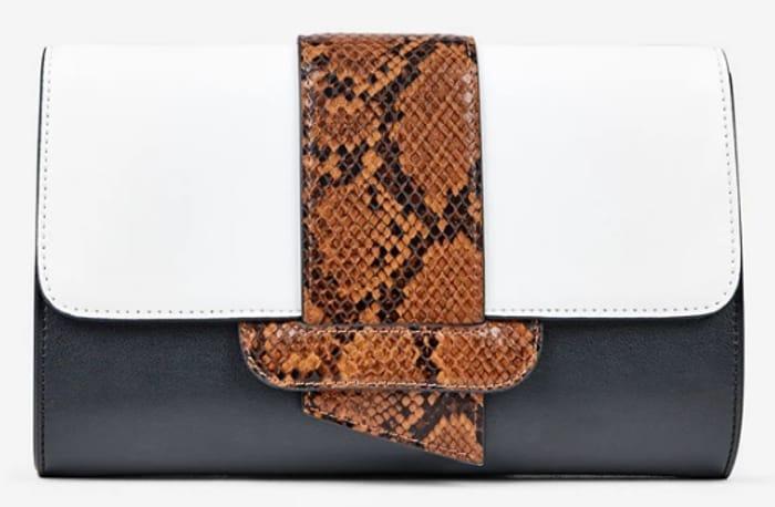Dorothy Perkins - Cream Colour Block Clutch Bag