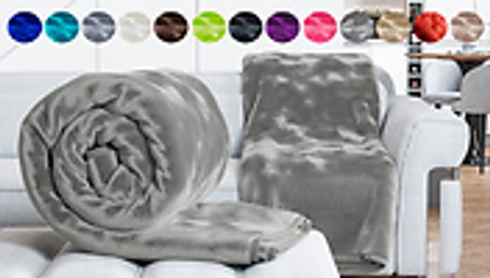 Luxury Faux Fur Mink Throw in 12 Colours Double £7.99 King £14.99