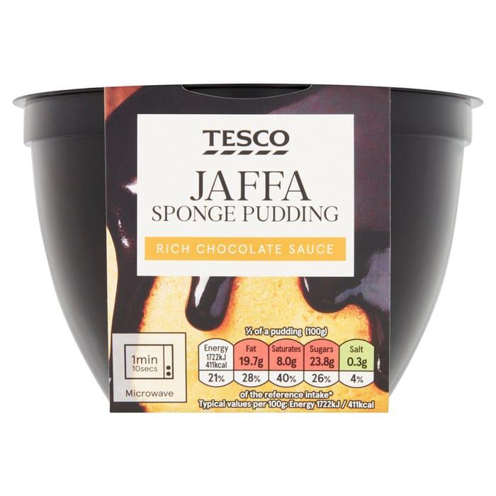 Tesco Jaffa Sponge Pudding 300G
