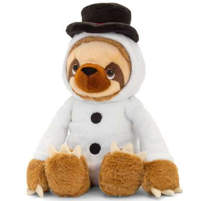Sloth in Christmas Snowman Outfit