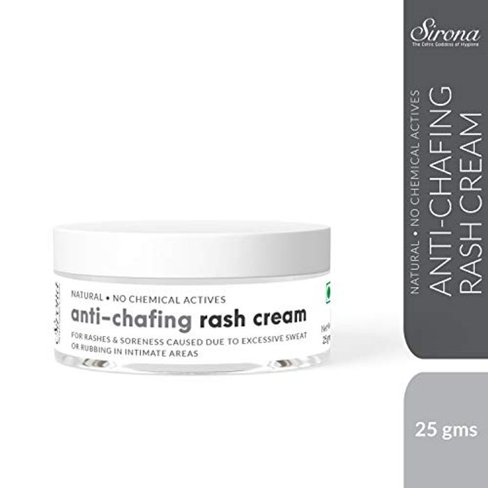 100% Natural Anti Chafing Rash Cream Helps Soothing Rashes Due to Pads, (25 Gm)