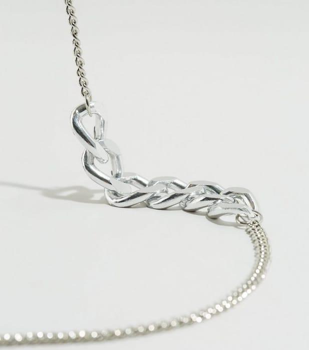 Cheap Silver Chunky Chain Belt - Save £7.99!