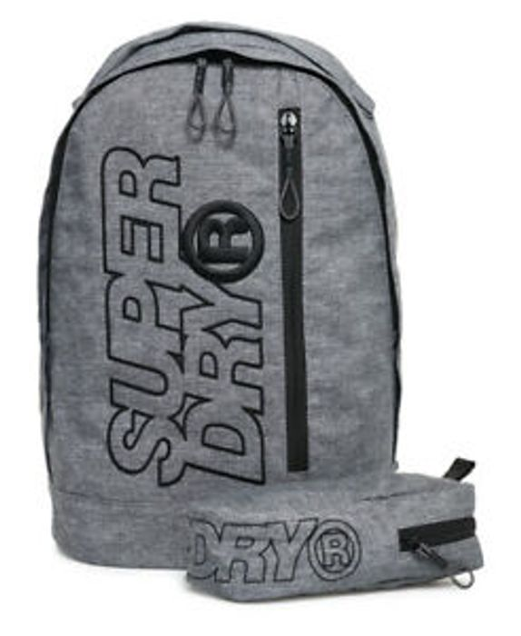 Cheap Mens Superdry Zac Freshman Backpack Grey Marl with £14 Discount