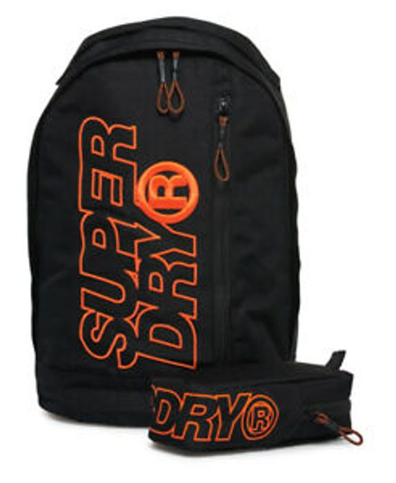 Mens Superdry Zac Freshman Backpack Black Hazard On Sale From £34.99 to £20.99