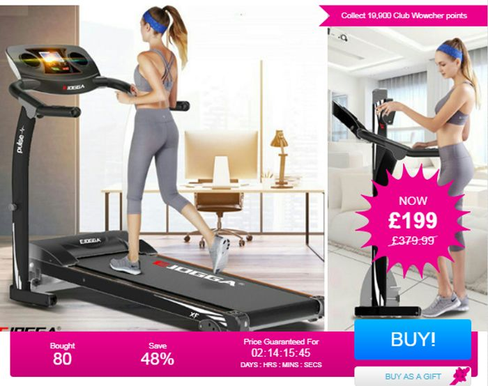 1100W E-Jogga XF Pulse Treadmill - 2 Colours! Bought 80