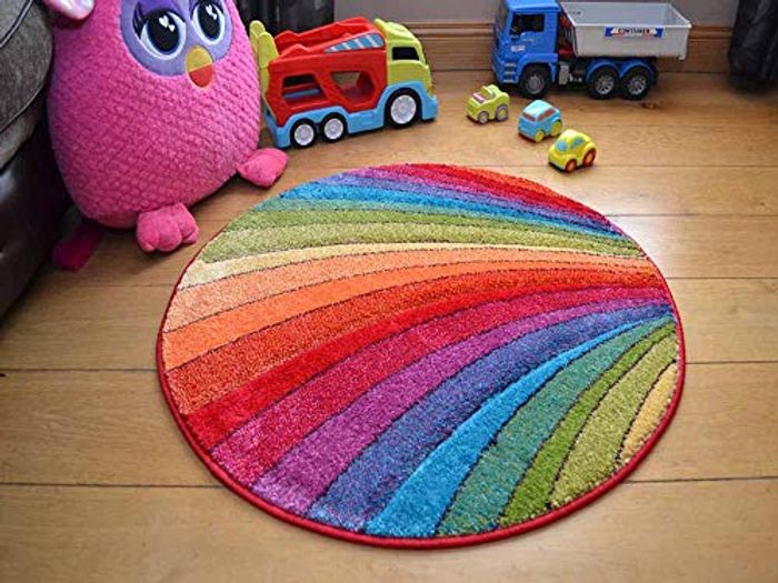 Candy Multicoloured Rainbow Design Rug. Available in 9 Sizes (133cm -