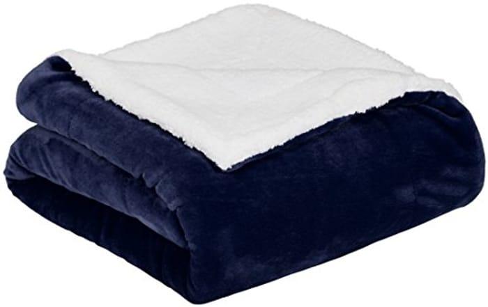 AmazonBasics Micromink Sherpa Blanket- 220 X 240 Cm
