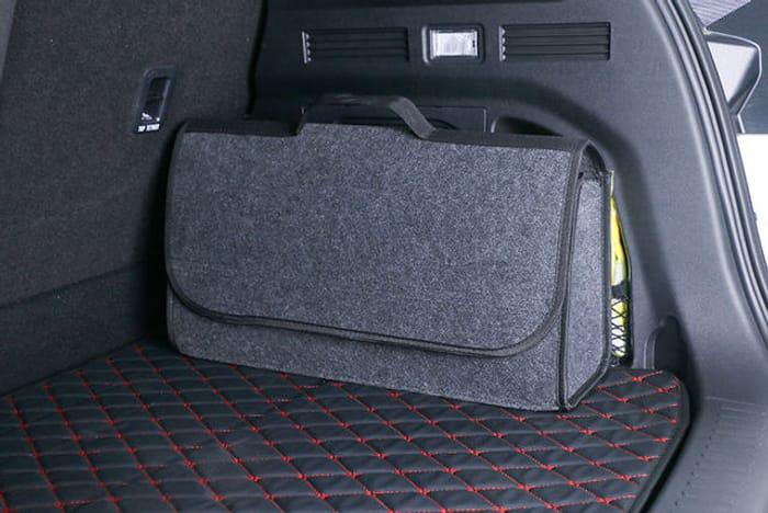 Large Grey Anti-Slip Car Boot Storage Organiser