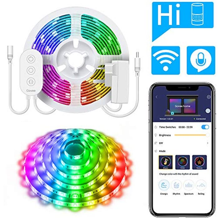 35% off MINGER WiFi Wireless 5m Light Strip Smart Phone Controlled 5050 LED