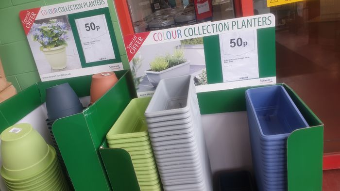 Colourful Plant Pots Only 50p Instore
