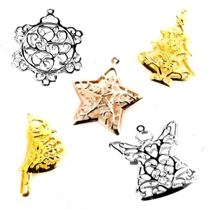 Christmas Metal Assorted Decorations - BUNDLE 30pcs