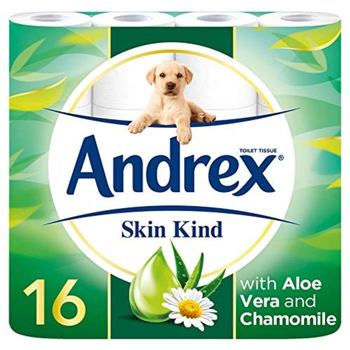 Best Price! Andrex Skin Kind Toilet Tissue, 16 Toilet Rolls (AMAZON PANTRY)