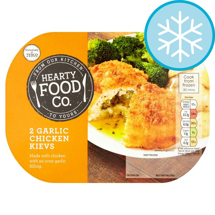 Cheap Hearty Food Co 2 Garlic Chicken Kievs 250G Only £0.88