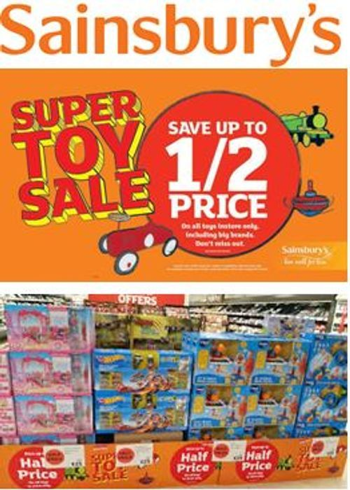 When is SAINSBURY'S HALF PRICE TOY SALE 2019 Start Date?