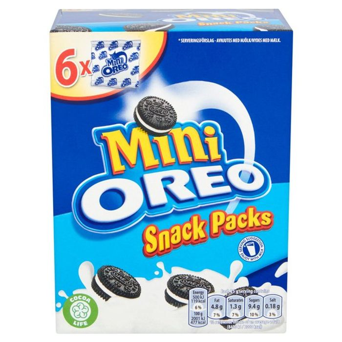 Oreo Sandwich Biscuits Mini Bags 6 Pack 6 X 25g