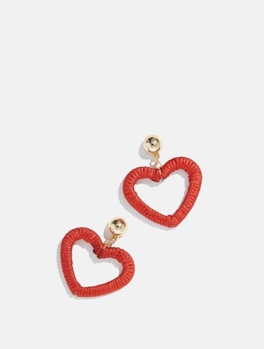 Knitted Heart Earrings at Skinnydiplondon