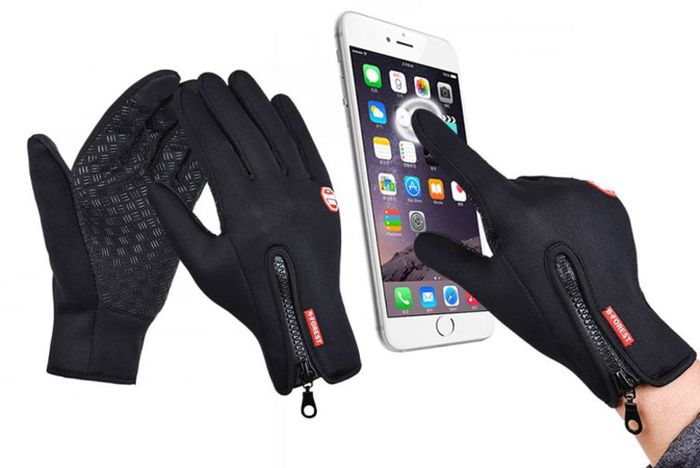 Windproof Touchscreen Compatible Gloves - 4 Sizes & 4 Colours!