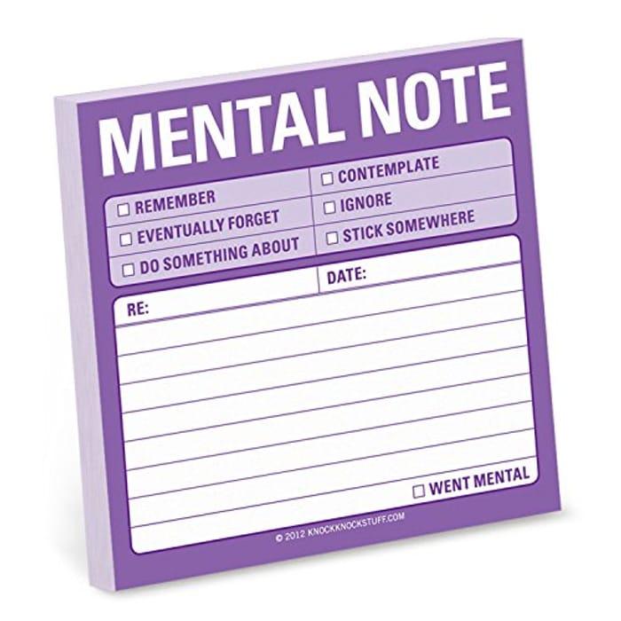 Mental Note Sticky Pad
