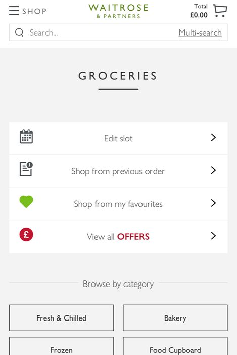 £25 off Second Orders over £100 plus Free Delivery at Waitrose & Partners