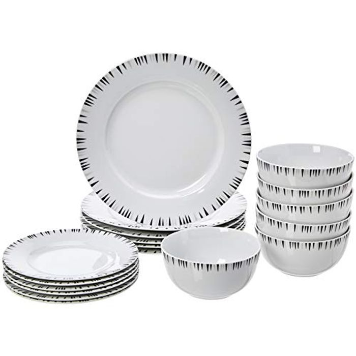 Lowest Ever Price - Amazon Basics 18 Piece Dinner Set for 6