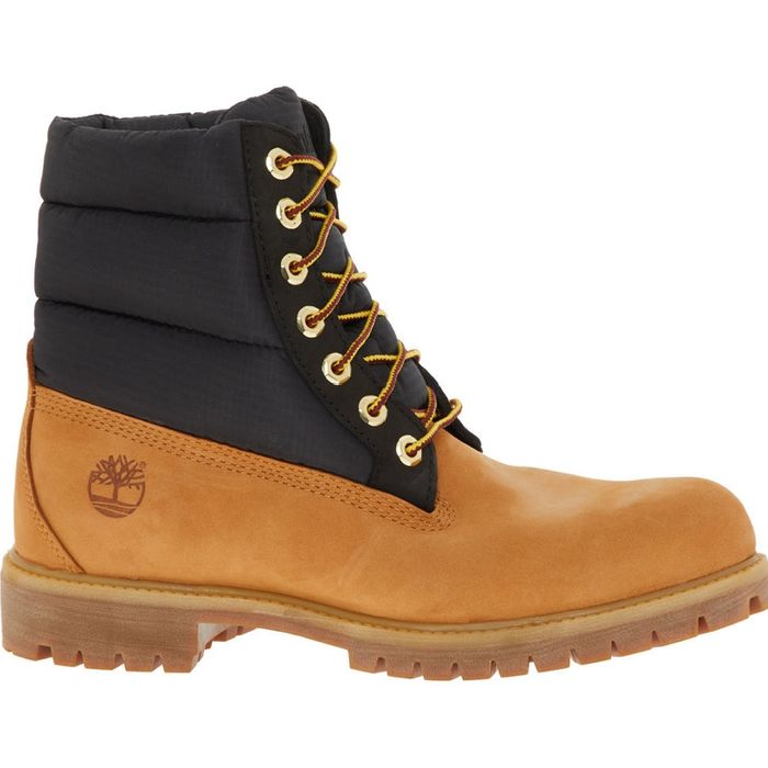 TIMBERLAND Tan Suede & Padded Upper Boots