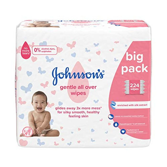 Cheap 224 JOHNSON'S Gentle All over Wipes (Amazon Add-on Item) Only £3