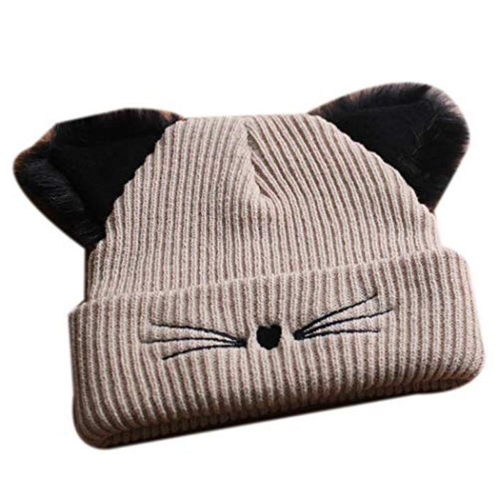 Cheap Cat Ears Knitted Beanie with 70% Discount - Great buy!