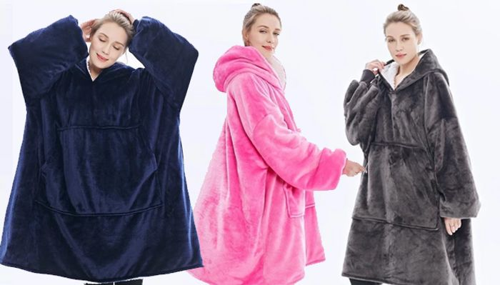 Cheap Super Soft Oversized Blanket Hoodie - 4 Colours with £36 Discount